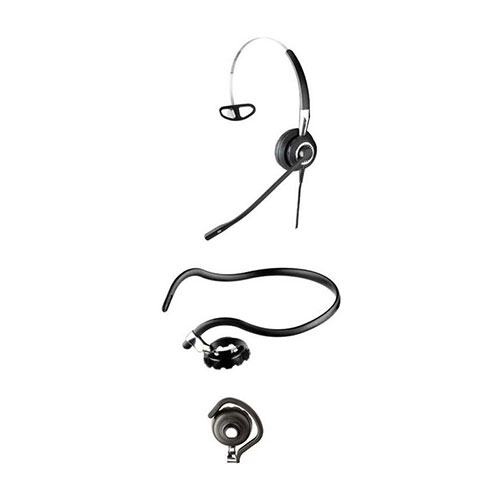 Jabra BIZ 2400 Mark II - 3-in-1 Mono Ultra Headset - with Ultra Noise Cancelling Microphone