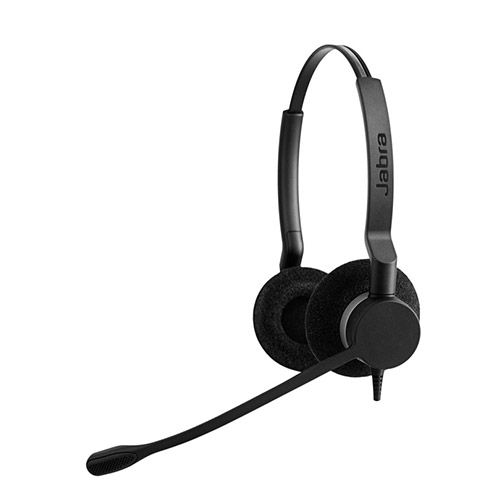 jabra biz 2300 duo qd headset with noise canceling microphone for microsoft lync. Black Bedroom Furniture Sets. Home Design Ideas