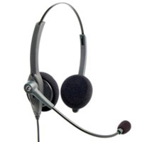 VXi Passport 21V-DC Binaural Headset with Noise Canceling Microphone compatible with VXi Direct Connect Cords