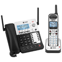AT&T SynJ 4-Line Corded/Cordless Small Business System with Extendable Range