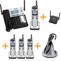 AT&T SynJ 4-Line Corded/Cordless Small Business System Extended Bundle