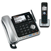 AT&T 2-Line Corded/Cordless Answering System with BLUETOOTH and Dial-in-Base Speakerphone