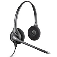 Plantronics SupraPlus HW261N Binaural Wideband Headset with Noise-Canceling Microphone
