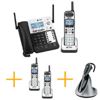 AT&T SynJ 4-Line Corded/Cordless Small Business System Bundle